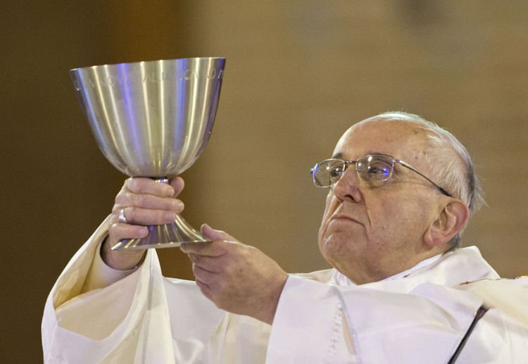 Pope Francis with the LGBT Chalice