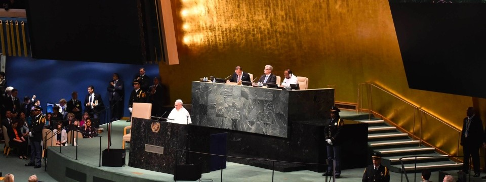 Pope Francis opens the jubilee UN General Assembly in the United States.
