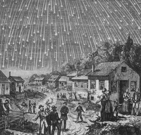 The meteor shower of 1833