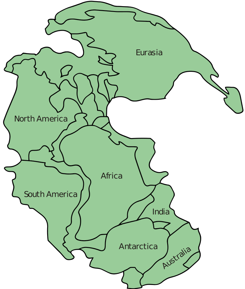 Pangea 200 million years ago