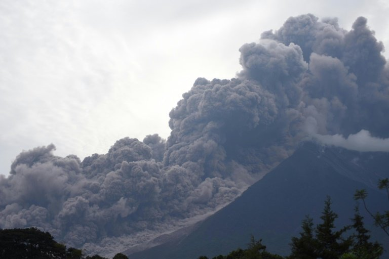 The eruption of Fuego when the sixth-trumpet began.