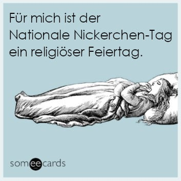 Comic: Nationaler Nickerchen-Tag