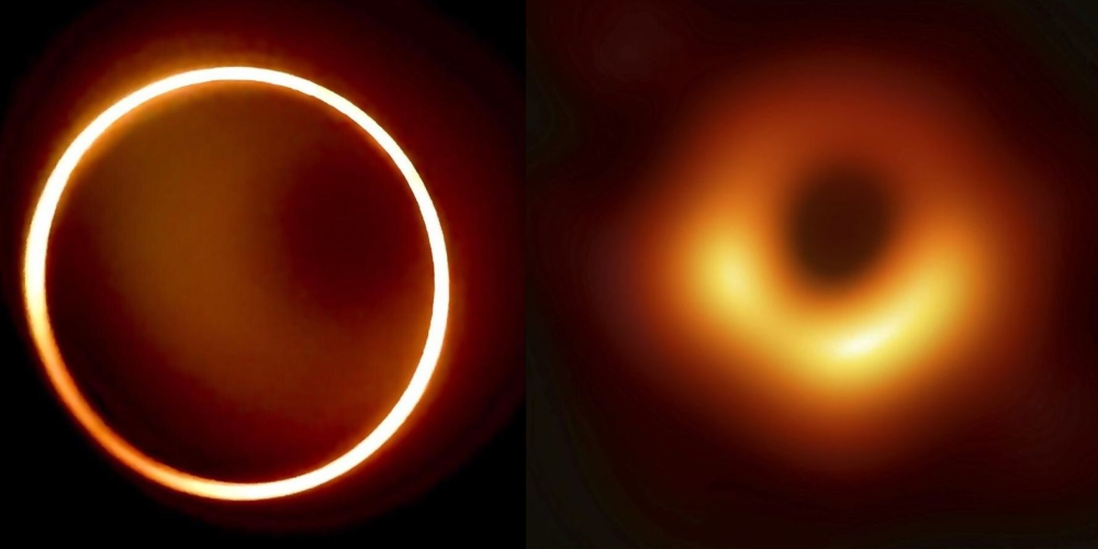 Annular Eclipse representing a black hole.
