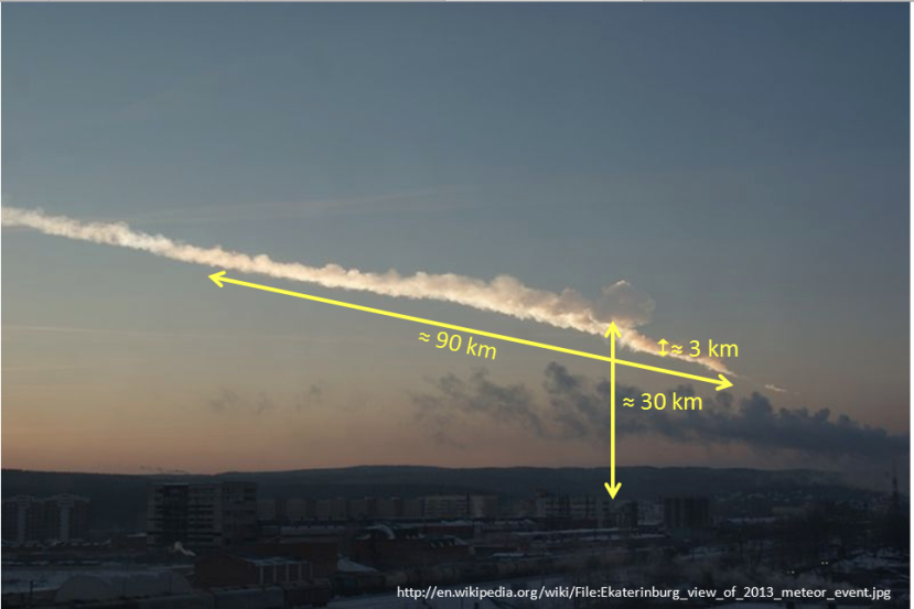 The White Cloud of the Chelyabinsk Meteor