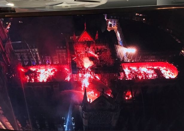 The Burning Cross of Notre Dame