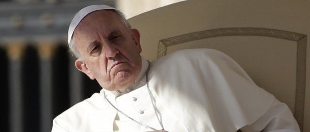 Pope Francis distancing himself.