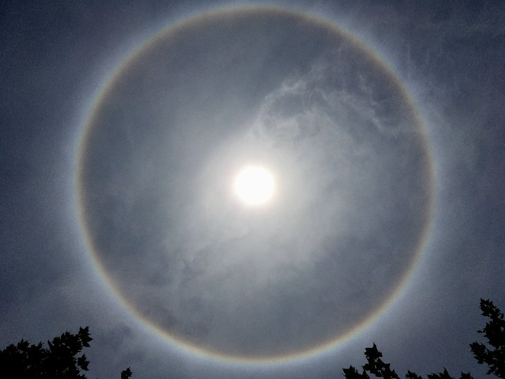 Sonnenhalo in Chile, 18. Dezember 2017.