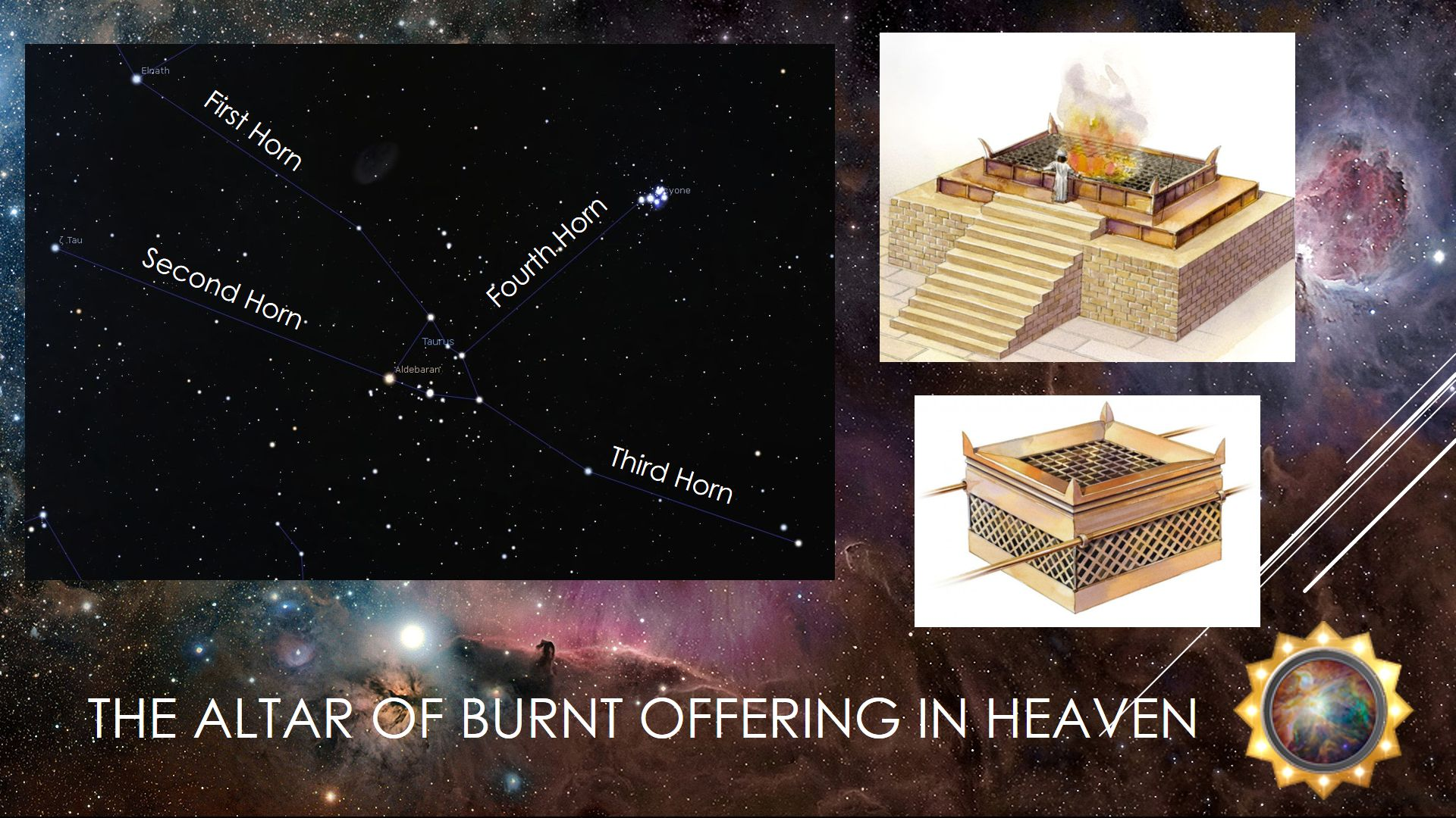 The altar of burnt sacrifice in the heavens