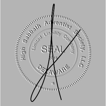 Signed trumpet seal