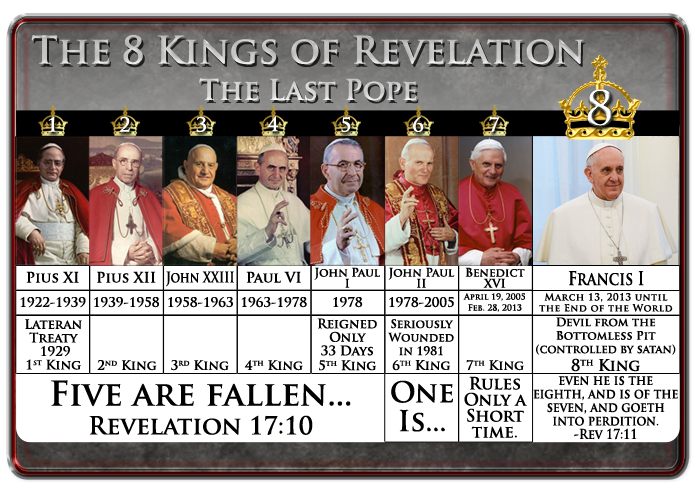The popes of the scarlet-colored beast