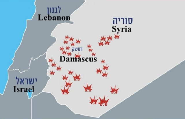 Israel's targets in Syria on May 10.